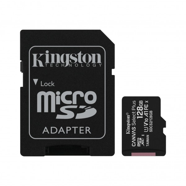 MICRO SD.128GB KINGSTON + 1ad KIN Canvas Plus
