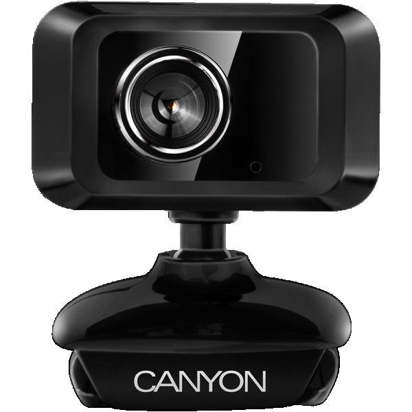 CANYON Enhanced 1.3 Megapixels resolution webcam with USB2.0 connector, viewing angle 40°, cable length 1.25m, Black, 49.9x46.5x55.4mm, 0.065kg ( CNE-CWC1 )