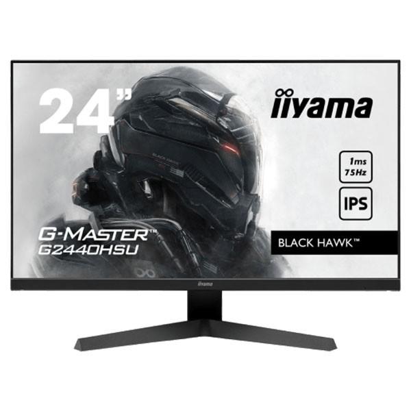 24'' ETE IPS-panel Gaming, G-Master Black Hawk, FreeSync, 1920x1080@75Hz, 250cdm˛, HDMI, DisplayPort, 1ms (MPRT), Speakers, USB-HUB (2x2.0), Black Tuner, Black ( G2440HSU-B1 )