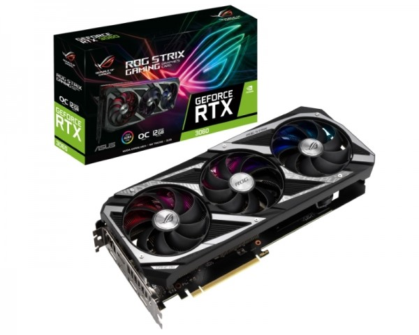 ASUS nVidia GeForce RTX 3060 12GB 192bit ROG-STRIX-RTX3060-O12G-V2-GAMING