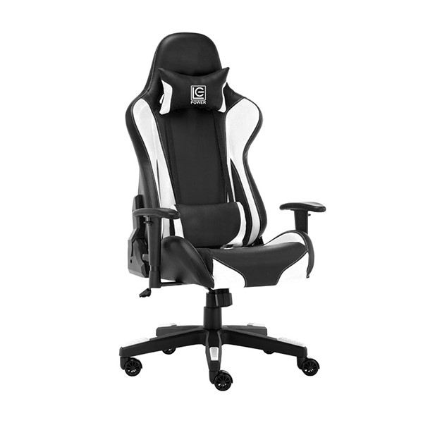 GAMING STOLICA LC Power LC-GC-600BW Gaming Chair Black/White
