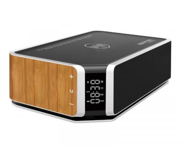 PROMATE AURABOOM Bezicni zvucnik sa integrisanim bezicnim punjacem Wi-fi Speaker Led Alarm FM Radio Function