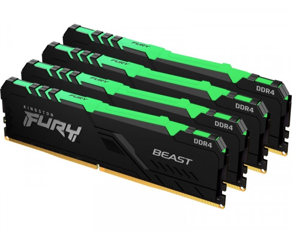 KINGSTON DIMM DDR4 128GB (4x32GB kit) 3600MHz KF436C18BBAK4128  Fury Beast RGB