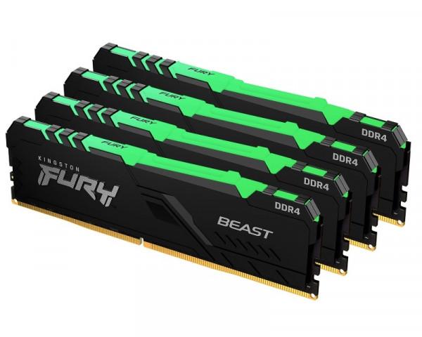 KINGSTON DIMM DDR4 128GB (4x32GB kit) 3200MHz KF432C16BBAK4128 Fury Beast RGB