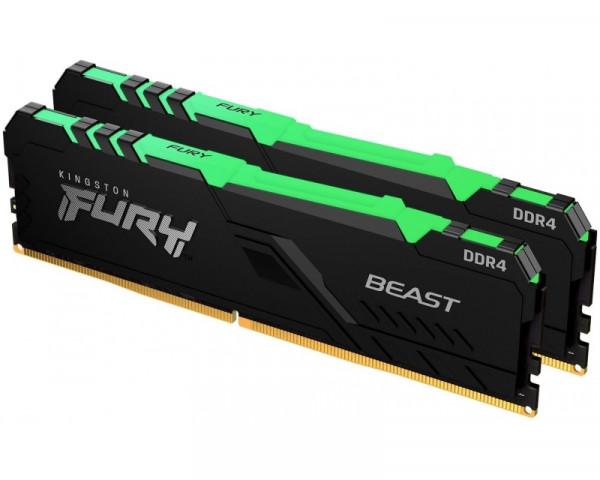 KINGSTON DIMM DDR4 64GB (2x32GB kit) 3600MHz KF436C18BBAK264 Fury Beast RGB