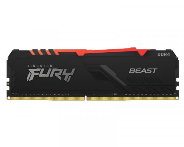 KINGSTON DIMM DDR4 8GB 3600MHz KF436C17BBA8 Fury Beast RGB
