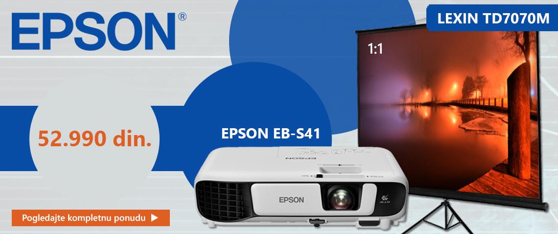 epson projektor+platno