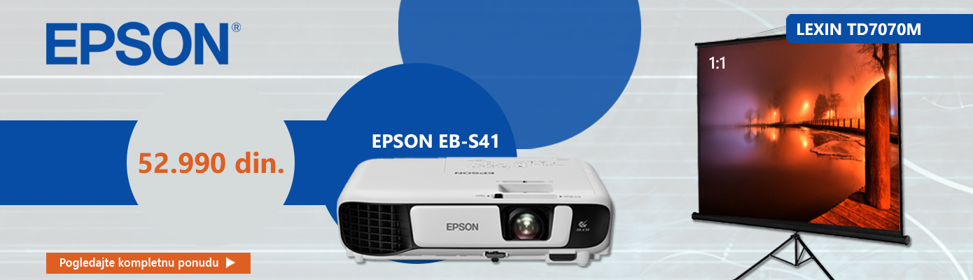 EPSON projektor i platno