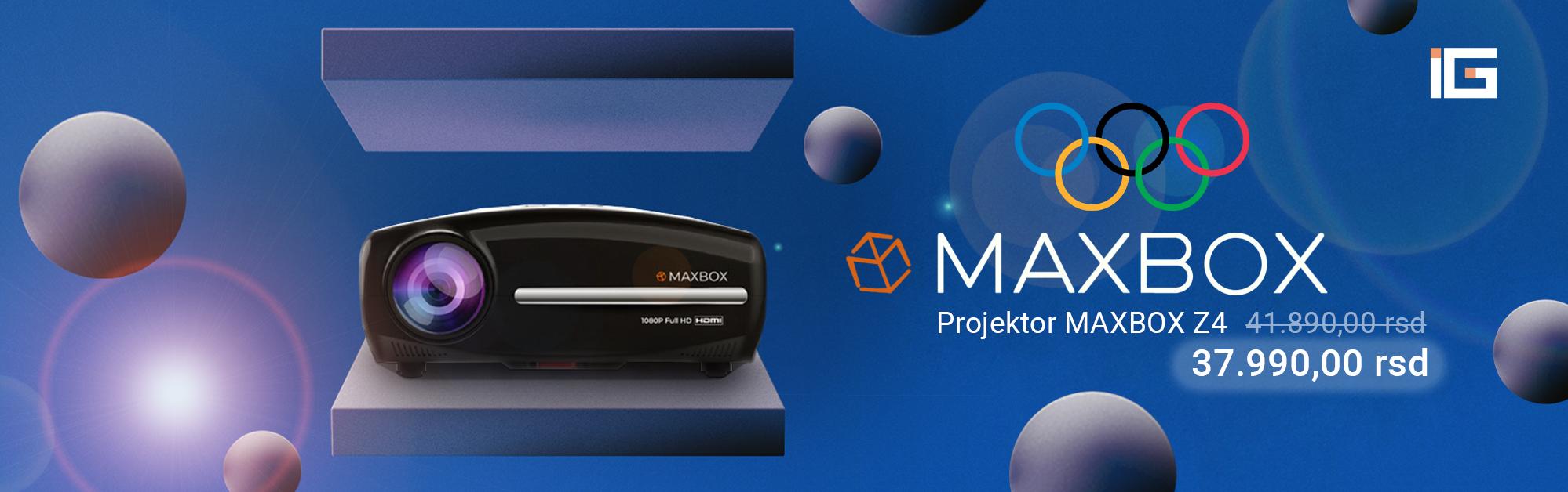 Projektor Z4 MAXBOX olimpijske igre akcija